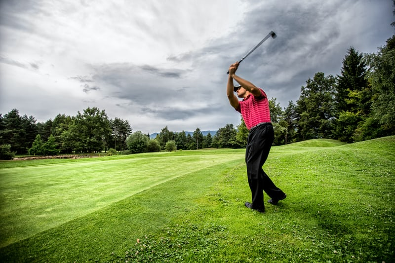 Player on a golf course