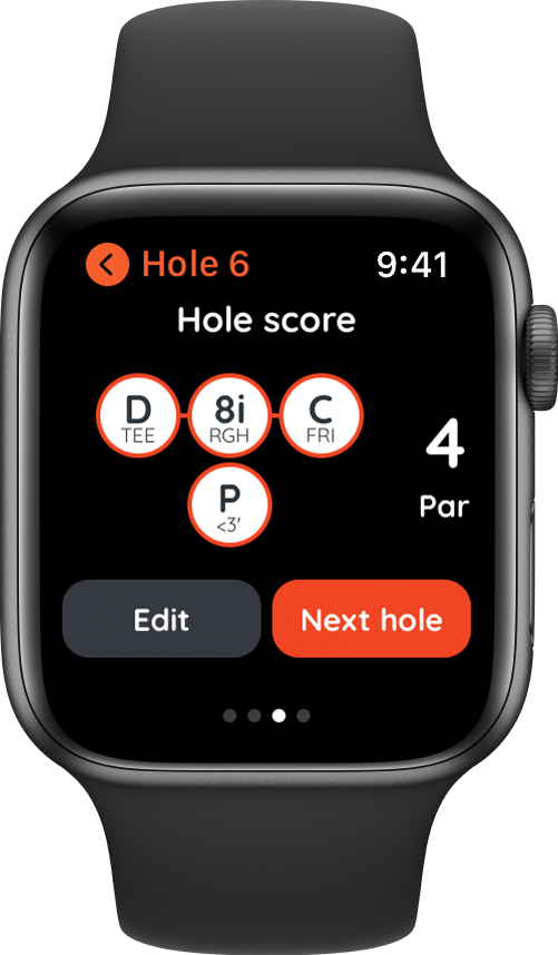 Golf in autonomy with the Apple Watch