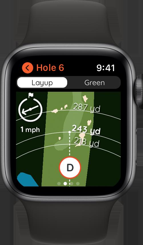 2D Golf Map on Apple Watch