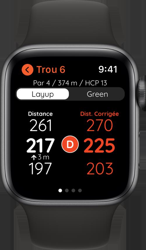 Golf avec Apple Watch