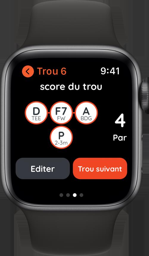 Golf avec Apple Watch en autonomie